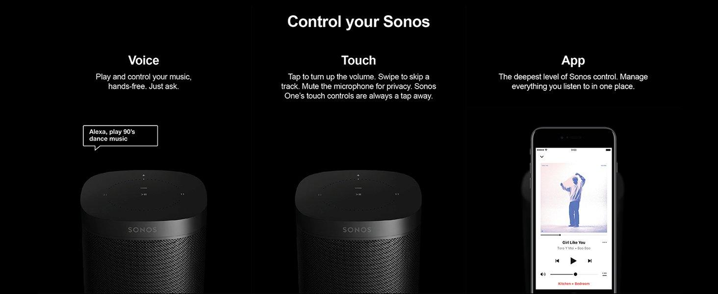 Ways to control Sonos One.
